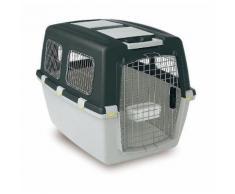 Trasportino per cani gulliver iata con griglie metallo omolog trasporto aereo misura mis6 cm92x64x64