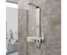 Pannello doccia Monte Rosa acciaio inox spazzolato con miscelatore termostatico incasso a 2 vie