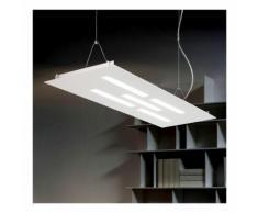 Sospensione fb-gamma 2080 s 66.5w led 7700lm biemissione metallo lampadario tavolo ufficio