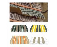 Tenda da Sole a Caduta 200x250 h Bracci Rullo Soffitto Esterno Balcone Parasole Arancione