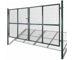 Cancello recinto per giardino rete griglia 289 x 200 cm / 306 x 250 cm