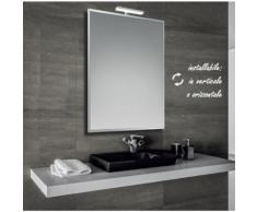 Marina - specchio bisellato reversibile da bagno 60x80 cm con lampada led 6w