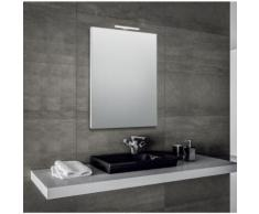 Innovo - specchio reversibile da bagno filo lucido con telaio perimetrale e lampada led, dimensioni