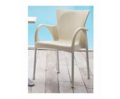 Sedia impilabile con braccioli, in alluminio e tecnopolimero, anche per esterno, diversi colori