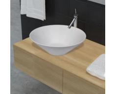 Lavello porcellana ceramica bacino bianco