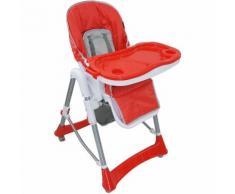 Seggiolone Per Bambini, Sedia Pieghevole Per Bambini, Rosso, Dimensioni letto disteso: 105 x 75 x
