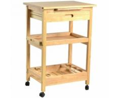 Carrello da cucina in legno con cassetto