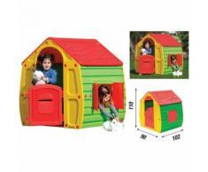 Casa Casetta in Plastica per Bambini da Esterno 110cm Giardino Esterni Bimbi