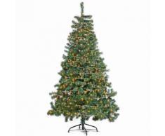 Albero di Natale super folto pino verde con 820 rami e 540 luci 1,80 metri