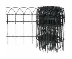 Recinzione estensibile per giardino e prato 25 x 0,4 m