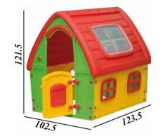 Casetta Gioco Bambini Fairy House In Plastica 123x102x121 Cm Interno Esterno
