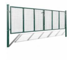 Cancello a Rete per Giardino 415 x 150 cm / 400 x 100 cmm