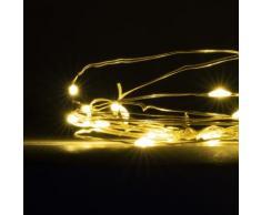 Luci Natalizie Micro LED Filo Luci Led a Batteria Catena Luminosa 20 Lucine per Presepe Bianco Caldo