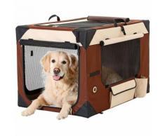 Trasportino per cani smart top deluxe l 61 cm w 46 cm h 43 cm beige brown