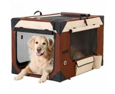 Trasportino per cani smart top deluxe l 106 cm w 71 cm h 69 cm beige brown