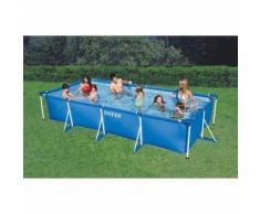 Piscina fuoriterra da giardino piscina montabile intex rettangolare misure 220x150x60