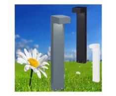 Lampioncino id-sirio pt2 small g9 led ip44 60h alluminio antracite bianco nero lampada terra