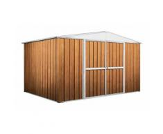 Garage deposito attrezzi Box in Acciaio Zincato 360x260cm x h2.12m - 130KG 9,1mq - LEGNO