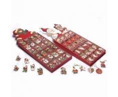 Addobbi per albero di Natale con personaggi in legno 144 pezzi