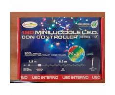 Luci di natale multicolore 180 mini lucciole controller giochi di colore 6,5 mt