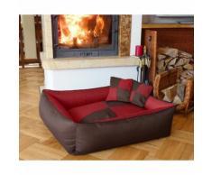 Cuccia cuccetta letto lettino per cani gatti animali 2 in 1 rosso l-xl-xxl misura xl 100x85 rosso