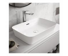 Lavabo da appoggio in Diamatec 55X38 con troppopieno Ideal Standard Ipalyss bordo sottile 3 mm