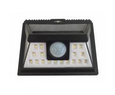 Faretto 24 led sensore movimento pannello solare ricaricabile luce esterno IP65