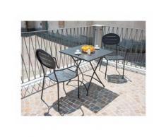 Tavolo bar quadrato pieghevole in ferro