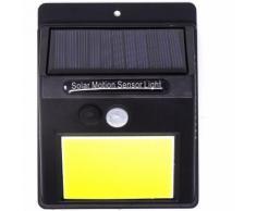 Faretto pannello solare sensore movimento crepuscolare 48led luce fredda esterno
