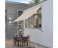 [pro.tec] Tenda da sole a parete con catenella - Paravento, parasole - 400 x 120 cm - Color sabbia