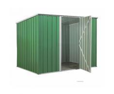 Casetta giardino in lamiera Box in Acciaio Zincato 260x185cm x h1.92m - 85kg - 4,55mq - VERDE