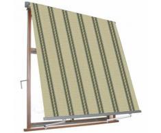 Tenda Da Sole Avvolgibile A Caduta Con Braccetti 3x2,45 M Per Finestra Balcone Beige/verde