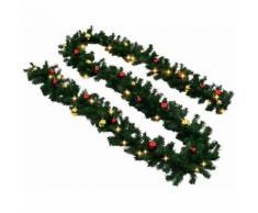 Ghirlanda di natale addobbi natalizi catena luminosa 5-20 mt decorazioni natale mpn: 10mt con