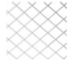 Traliccio in Plastica Bianco grigliato estensibile 100x400 cm per piante e fiori