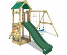 WICKEY Parco Giochi FreeFlyer Gioco da giardino in legno, Set da Gioco
