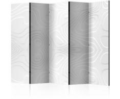 Paravento 5 Pannelli - White Waves Ii 225x172cm Erroi