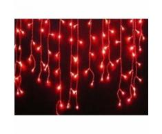 Cascata luminosa tenda di natale 150 maxi led flash rosso 300x100 prolungbile 15mt
