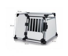 Trasportino in Alluminio. Autobox Gabbia per Cani. Cm 93 x 81 x H 65