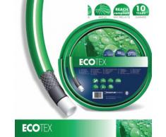 Tubo Acqua Retinato Irrigazione Giardino Prato 5/8''(15mm) PVC 4 Strati 50m Verde