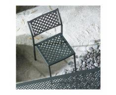Sedia in metallo, impilabile, per giardino, Grigio antracite