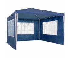 gazebo 3x3m con 3 parti laterali blu