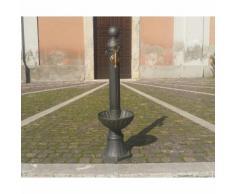 Fontana a colonna in alluminio con vasca per casa giardino opzione rubinetto: senza rubinetto