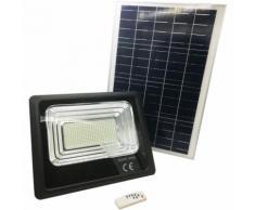 Faro LED 300W luce esterna faretto giardino energia solare IP65 crepuscolare dr