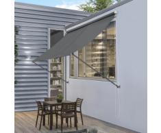[pro.tec] Tenda da sole a parete con catenella - Paravento, parasole - 400 x 120 cm - Grigio