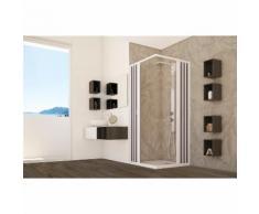 Box doccia pvc cabina angolare soffietto in acrilico riducibile su misura misura 90x90 cm