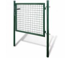 Cancello recinto per giardino rete griglia 85,5 x 75 cm / 100 x 125 cm