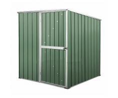 Box in Acciaio Zincato casetta attrezzi da giardino 175x185cm x h1.92m - 70KG 2,92mq - VERDE