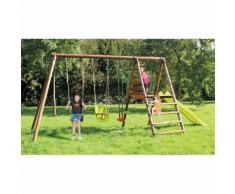 Area Giochi Altalena Scivolo Playground In Legno H235cm New Plast Apache