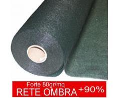 STI Rete Ombreggiante Ombra Telo Verde Giardino + 90% Frangisole Frangivista 2x25 mt