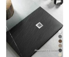 Piatto Doccia filo pavimento 75x140 H 2,5 cm Easy effetto ardesia